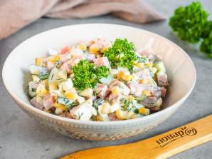 Салат с ветчиной, яйцом и кукурузой - фото шаг 5