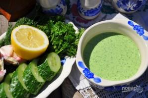 Холодный огуречный суп на йогурте - фото шаг 4