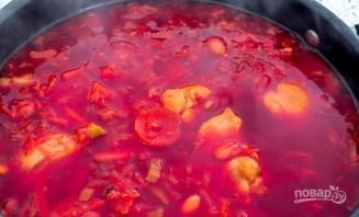 Свекольный суп на курице - фото шаг 3