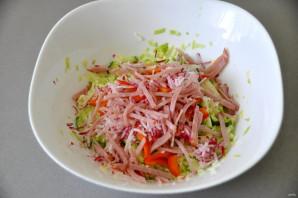 Салат из молодой зелёной капусты - фото шаг 7