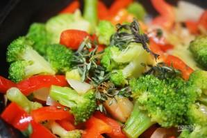 Фриттата с брокколи и сладким перцем - фото шаг 9