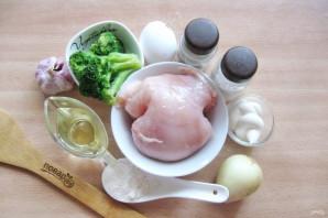 Куриные оладьи с брокколи - фото шаг 1