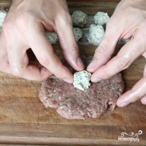 Зразы из говядины с сыром на пару - фото шаг 13