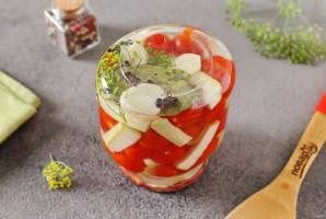 Ассорти из помидоров и кабачков на зиму - фото шаг 8