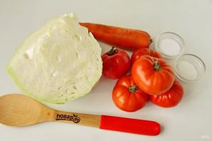 Квашеная капуста с помидорами - фото шаг 1