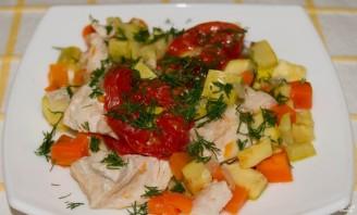 Индейка в пароварке с овощами  - фото шаг 4