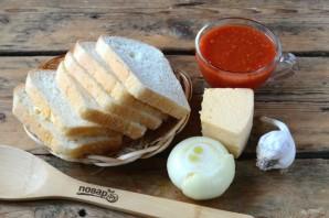Бутерброды под сырно-томатной подушкой - фото шаг 1