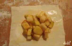 Конвертики с яблоками - фото шаг 3