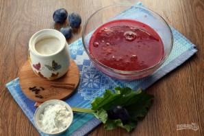 Сливовый суп с ревенем - фото шаг 3