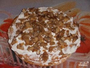Блинный пирог с курицей, грибами и творогом - фото шаг 13