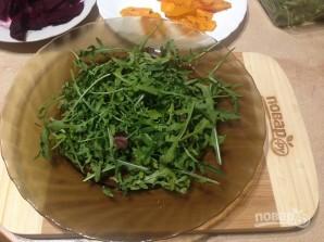 Салат с запеченными тыквой и свеклой - фото шаг 5