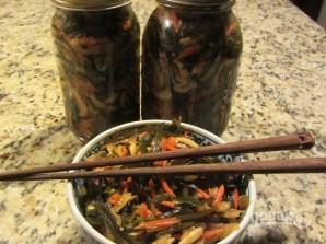 Салат из морской капусты и кальмаров - фото шаг 14