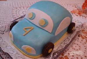 """Торт """"Машинка"""" из мастики - фото шаг 7"""