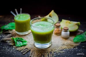 Смузи из авокадо и шпината - фото шаг 6