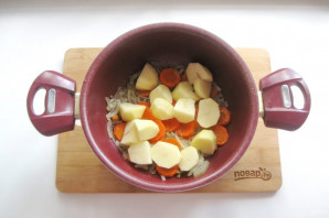 Соте из баклажанов и картофеля - фото шаг 4