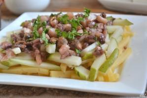 Морской салат с кальмарами и креветками - фото шаг 9