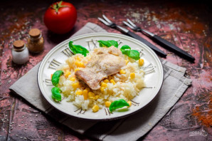 Курица с кукурузой и рисом - фото шаг 7
