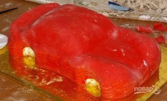 "Торт ""Молния Маквин"" - фото шаг 8"