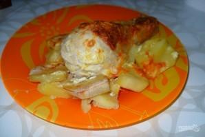 Куриные голени в сметане с картошкой - фото шаг 6