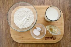 "Пирожки с сыром и зеленью ""Лодочки"" - фото шаг 1"