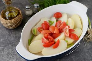 Кефаль с картошкой в духовке