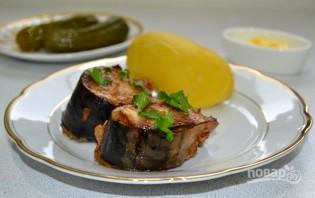 Скумбрия, запеченная в горчично-соевом соусе - фото шаг 12