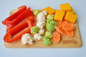 "Овощи на пару ""Вкусные"" - фото шаг 2"