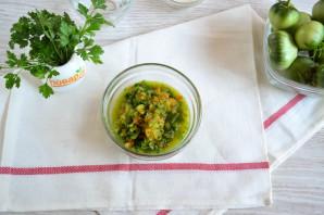 Острые зеленые помидоры с перцем и чесноком - фото шаг 2