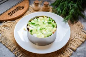 Слоеный салат с тунцом и картофелем - фото шаг 6