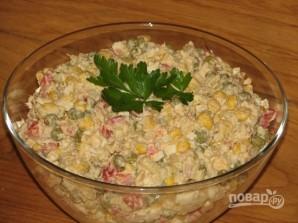 Салат из тунца с яйцом - фото шаг 8
