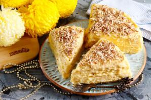 Вафельный торт с заварным кремом - фото шаг 6