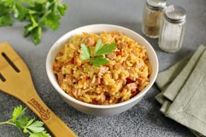 Рисовая каша с колбасой - фото шаг 8