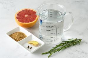 Чай с грейпфрутом и розмарином - фото шаг 1