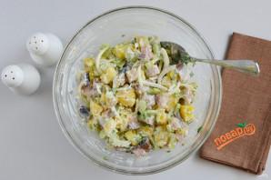 Салат из скумбрии - фото шаг 6