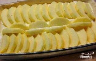 Яблочный пирог с творогом - фото шаг 7