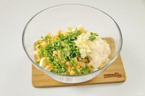 Салат с зеленым горошком и курицей - фото шаг 8