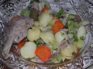Овощное рагу с гусиным мясом - фото шаг 6