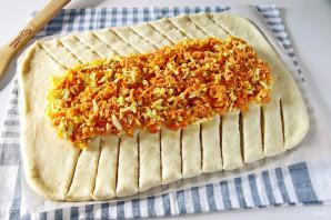Пирог с морковью и яйцом - фото шаг 13