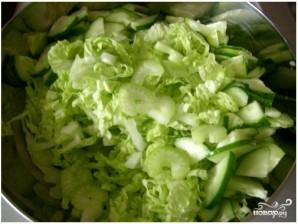 Салат со стеблями сельдерея - фото шаг 1