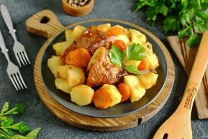 Кролик с картошкой в майонезе в духовке - фото шаг 7