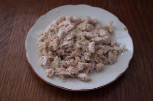 Овощной салат с маринованными грибами и индейкой - фото шаг 4