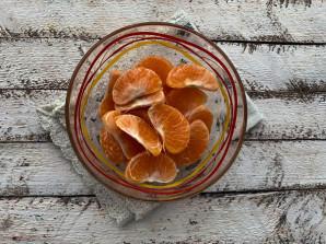 Заливной пирог с мандаринами - фото шаг 5