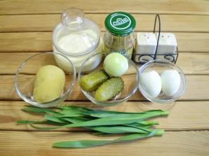 Салат с маринованными огурцами - фото шаг 1