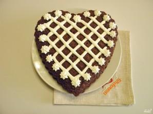 Торт в виде сердца - фото шаг 12