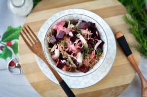 Салат из свеклы и квашеной капусты - фото шаг 10
