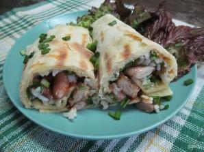 Буррито с телятиной рисом и фасолью  - фото шаг 16