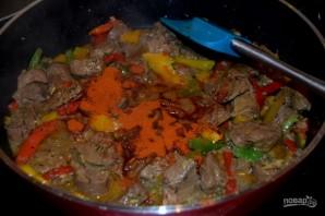 Рагу из печенки с овощами - фото шаг 4