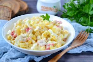 Салат с крабовыми палочками и ананасом - фото шаг 7