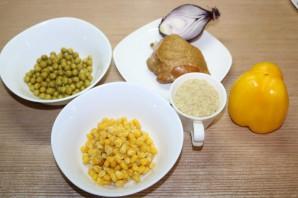 Рисовый салат на Новый год Свиньи - фото шаг 1