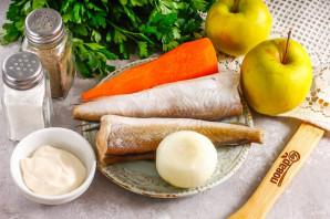 Шашлык из рыбы с яблоками - фото шаг 1
